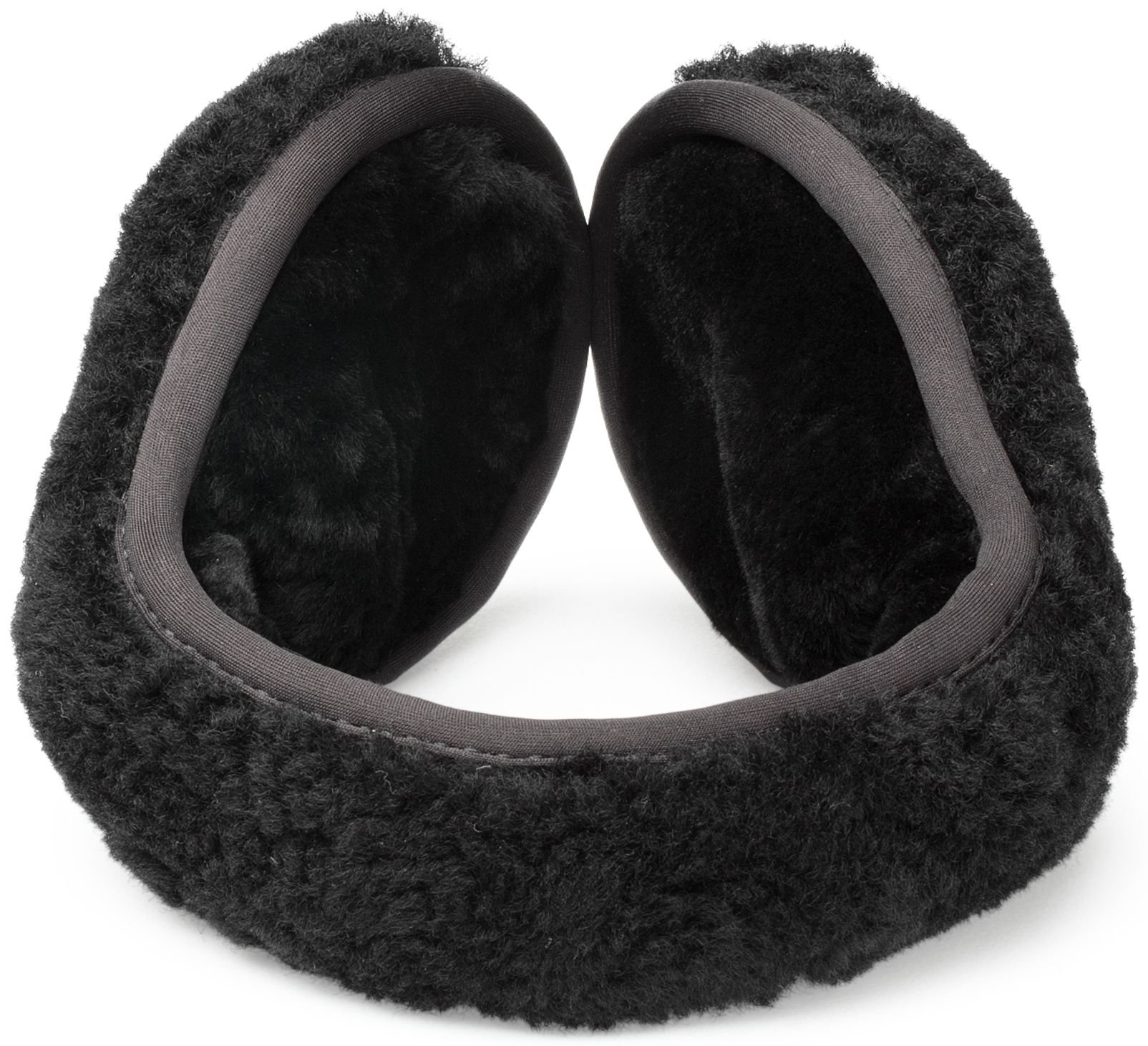 UGG Womens Curly Wrap Around Earmuff in Black Curly by UGG