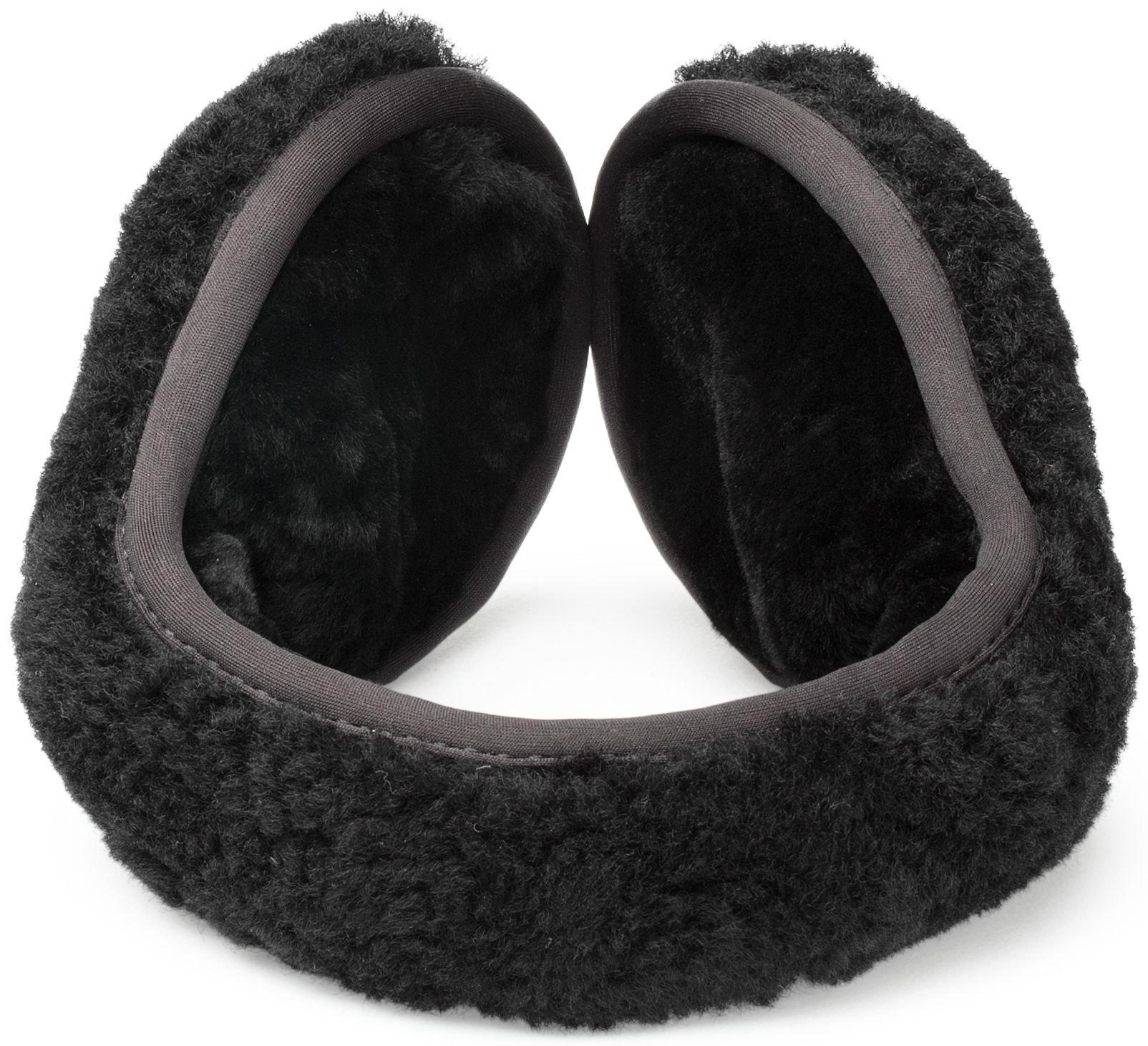UGG Womens Curly Wrap Around Earmuff in Black Curly