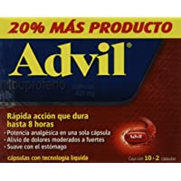 Advil Cápsulas, Max, 400 Mg, 12
