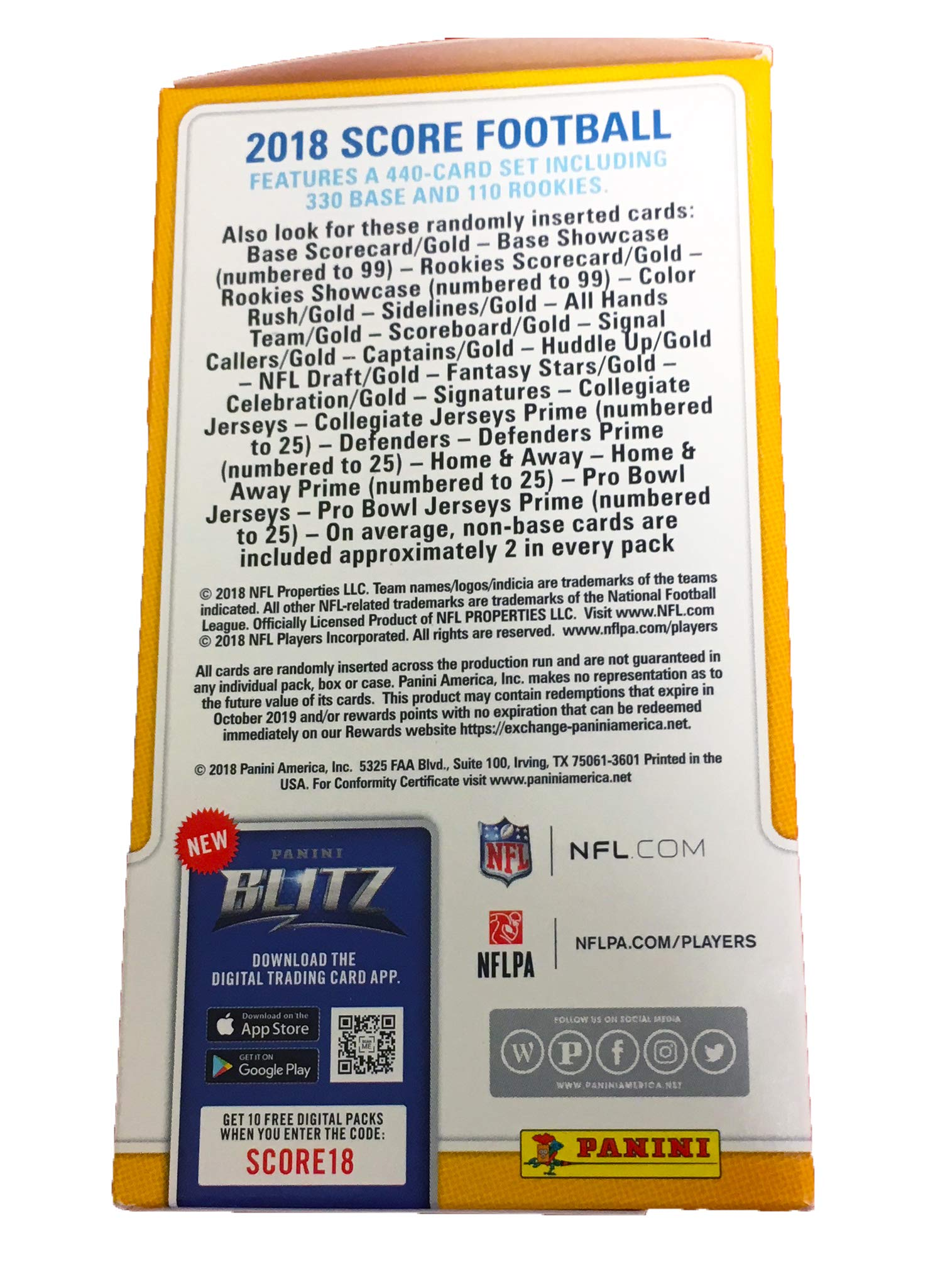 """2018 NFL Score Football Cards Factory Sealed Panini Retail Box!"""