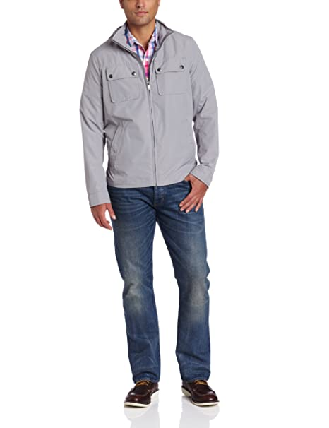 Amazon.com: Dockers Hombre 2 bolsillo militar chamarra, XL ...