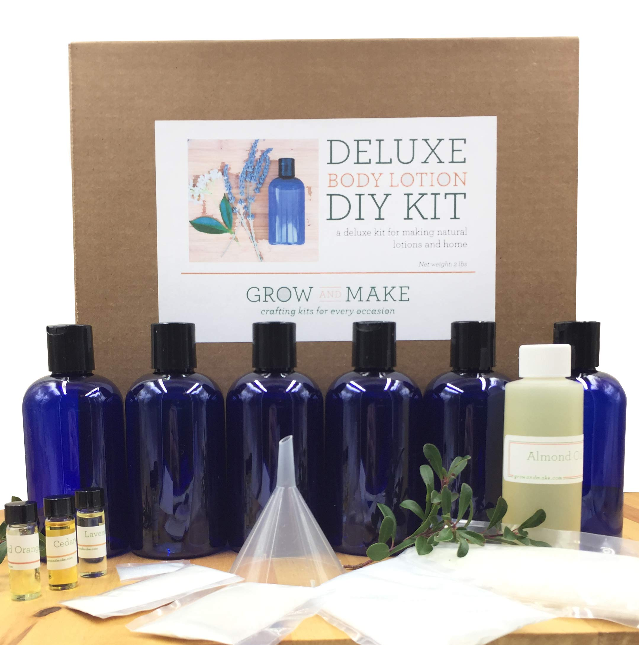 Grow and Make DIY Deluxe Body Lotion Making Kit - Learn how to make your own body lotion at home!