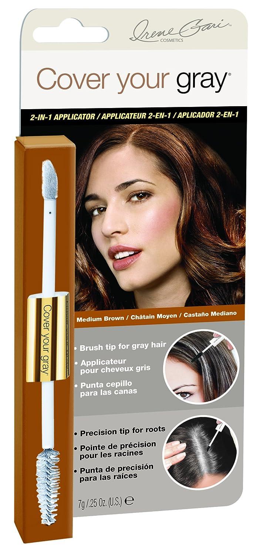 Cover Your Gray 2 In 1 Mascara Wand Sponge Tip Ql Eyebrow Cream 15gr Applicator Dark Brown Beauty