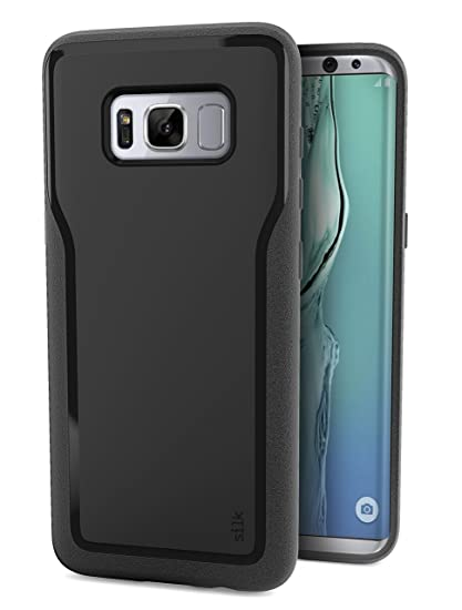innovative design 8f33b 42de8 Silk Galaxy S8+ Grip Case - Base Grip Lightweight Protective Slim Samsung  S8 Plus Cover - Kung Fu Grip - Black Onyx