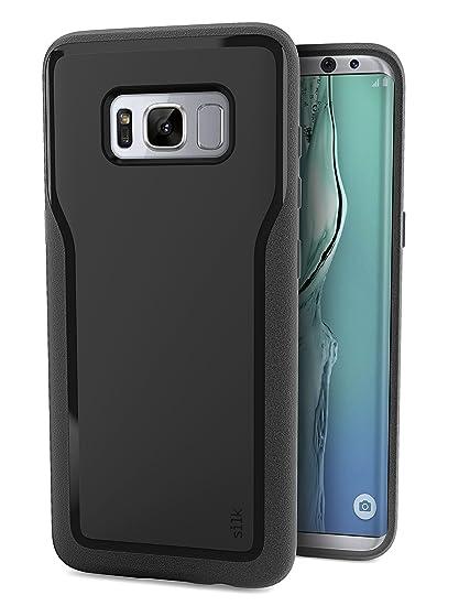 innovative design 7b7b6 64a09 Silk Galaxy S8+ Grip Case - Base Grip Lightweight Protective Slim Samsung  S8 Plus Cover - Kung Fu Grip - Black Onyx