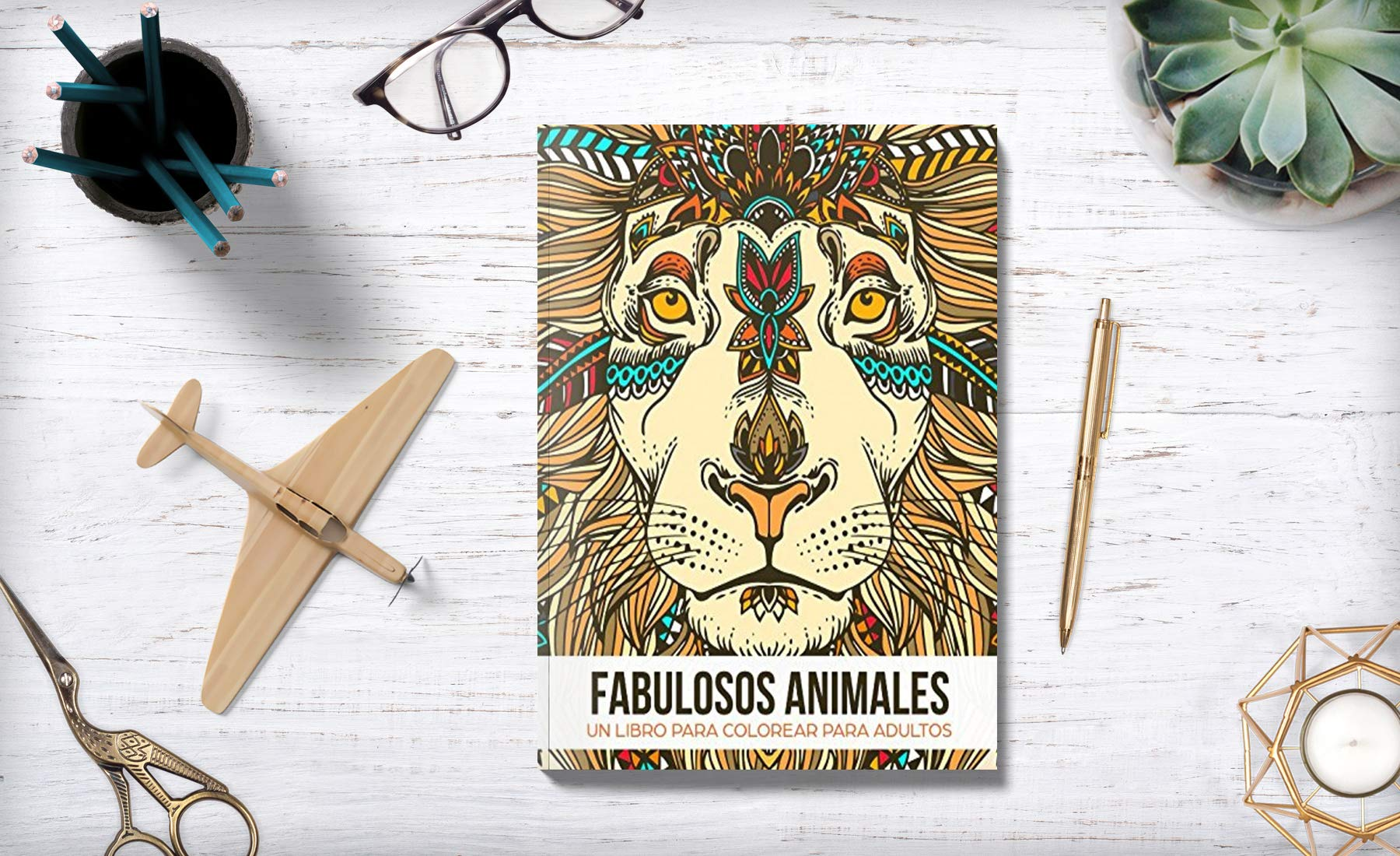 Fabulosos Animales: Un libro de colorear para adultos - Un regalo para liberar tensiones coloreando, dirigido a hombres, mujeres y adolescentes que ... y ...