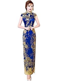 7523d0e7c Amazon.com: Shanghai Story Keyhole Cheongsam Lace Mermaid Sequins ...