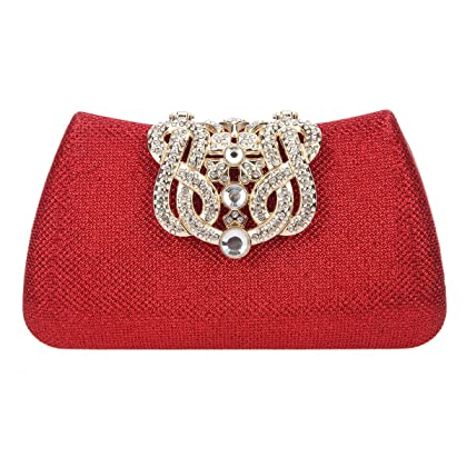 Fawziya Crown Clutches For Women Evening Glitter Box Clutch Purses 81d5b258fbe0