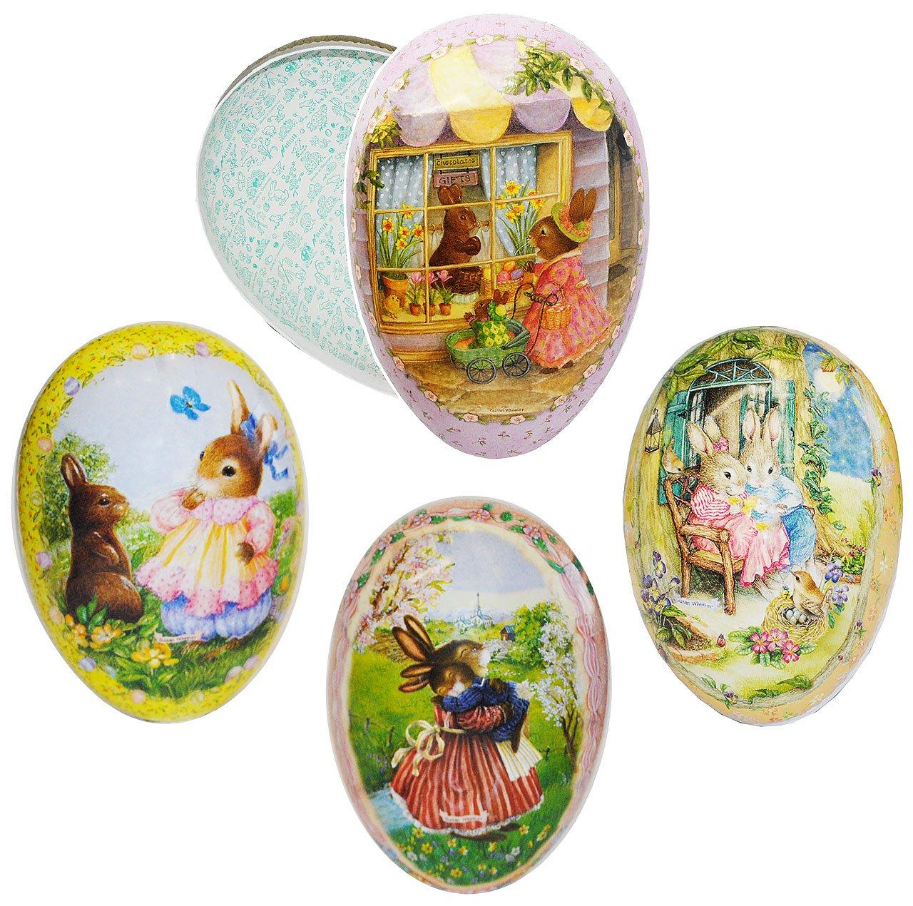 Unbekannt 3 Stück _ _ _ Füll - Pappeier - 25 cm -  Holly Pond Hill - süße Hasen  - Osterei   Ei zum befüllen - Deko Pappe Papp Pappeier Dekoei Pappostereier Füllen - OSTE.. B01BKVJEZ4 Ostern 902d78