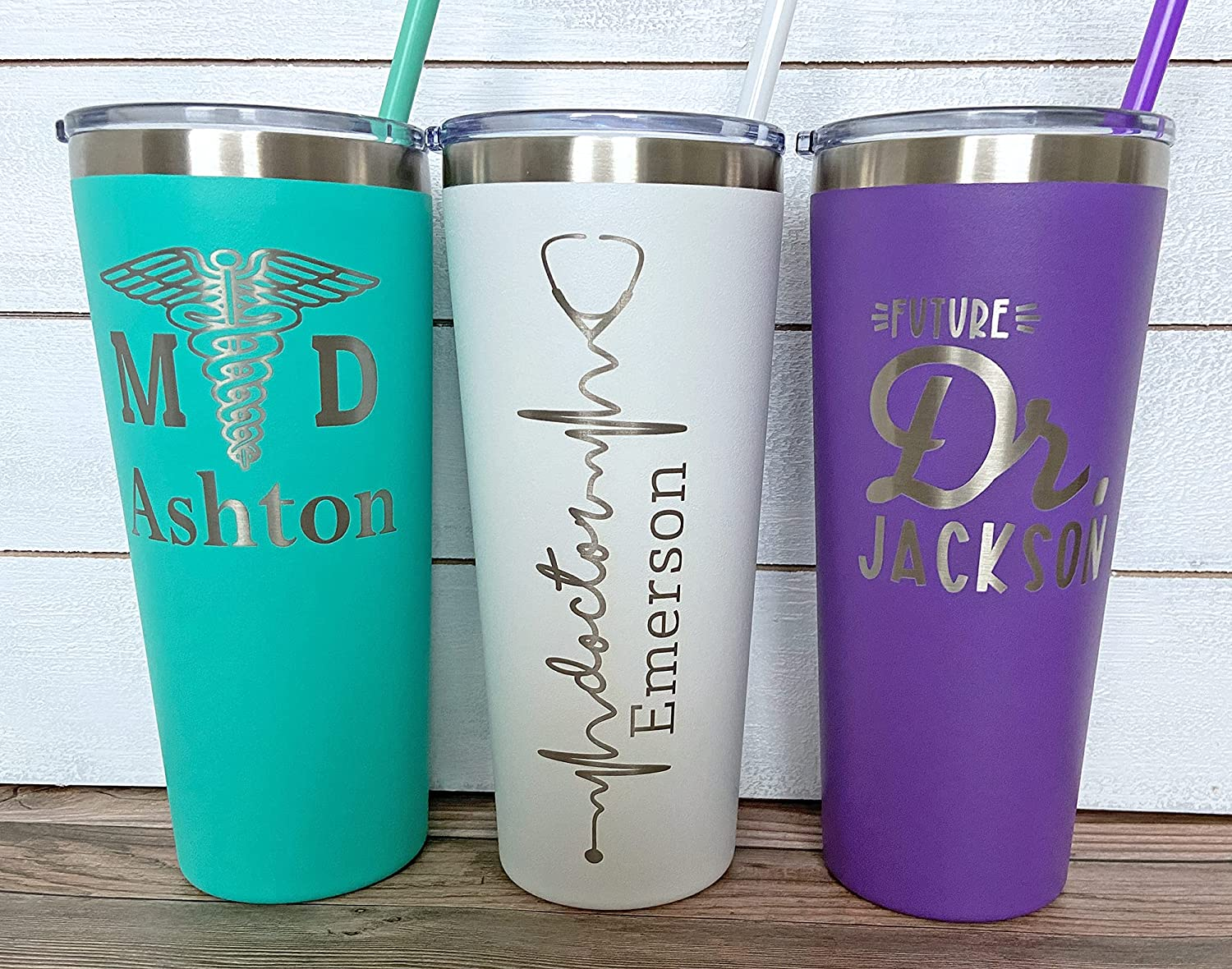 gift for health professions PharmD Personalized 15oz Tumbler Laser Etched novelty gifts Pharmacist Tumblers keep drinks warm or cold