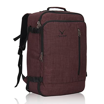 f73a2cffe2ba Veevan Cabin Flight Approved 38 Litre Weekend Backpack Carry On Bag Travel  Hand Luggage Brown  Amazon.co.uk  Luggage