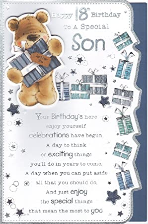 Son 18th birthday card happy 18th birthday to a special son son 18th birthday card happy 18th birthday to a special bookmarktalkfo Choice Image
