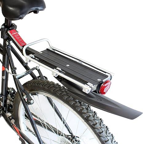 PedalPro - Portaequipajes trasero con guardabarros y reflector ...