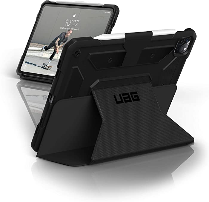 URBAN ARMOR GEAR UAG iPad Pro 12.9-inch (4th Gen, 2020) Case Metropolis [Black] Folio Slim Heavy-Duty Tough Multi-Viewing Angles Stand Military Drop Tested Protective Cover