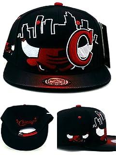 6ecff95d364 Chicago New Leader Bull Head Skyline Bulls Colors Black Red Era Snapback  Hat Cap