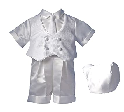 48fae8391 Amazon.com: Lauren Madison Baby boy Christening Baptism Infant Knit Vestie  Set With Short: Infant And Toddler Christening Apparel: Clothing