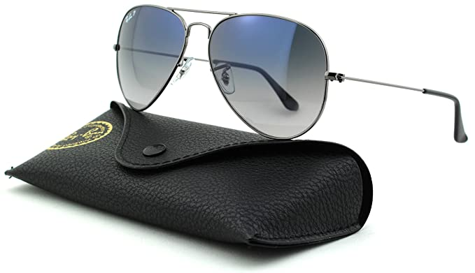 e7a67358c1 Image Unavailable. Image not available for. Color  Ray-Ban RB3025 Aviator  Large Metal Unisex Polarized ...