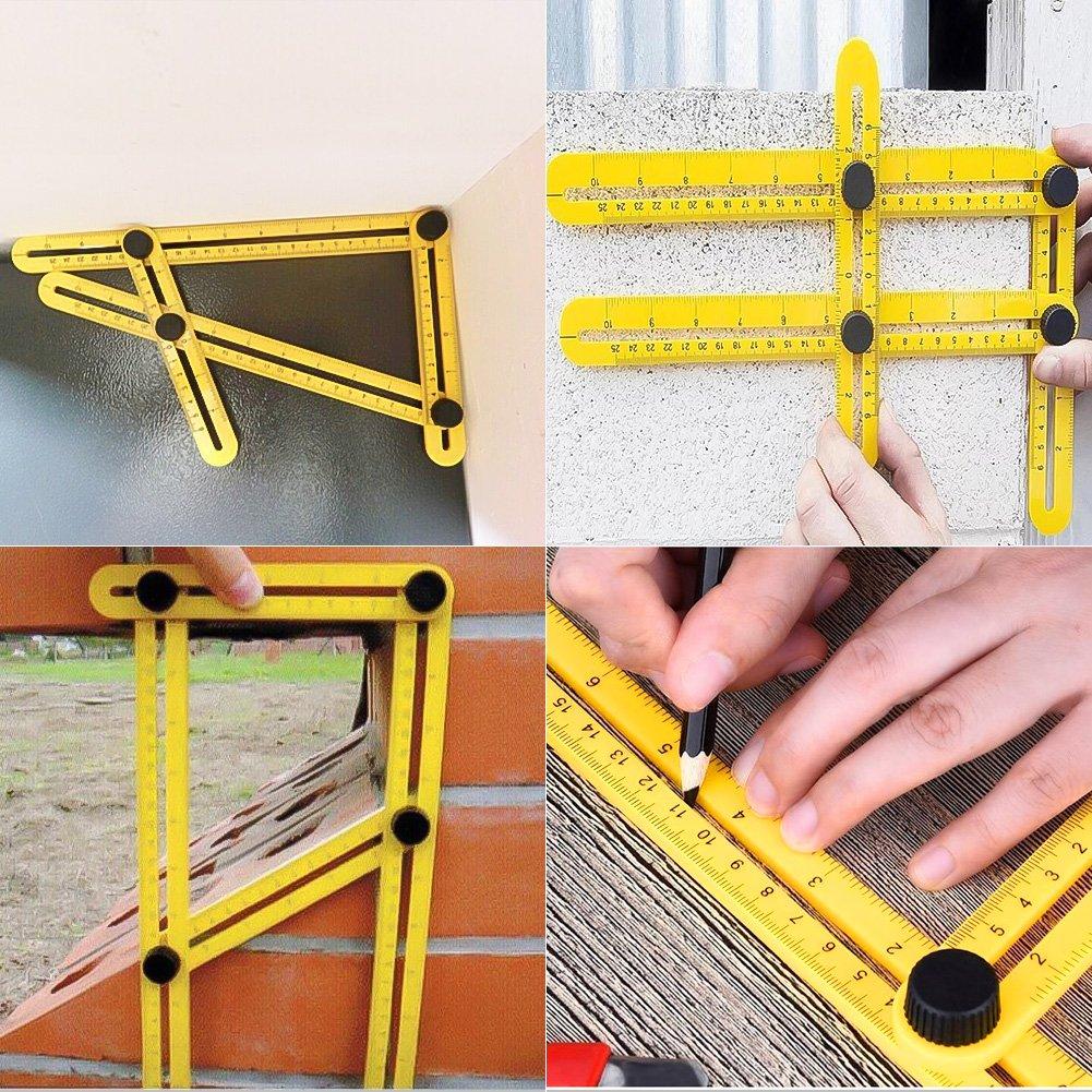 GYMAN Multi-Angle Measuring Ruler Angle Izer Template Tool for Handyman Builders Craftsman DIY-ER by GYMAN (Image #7)