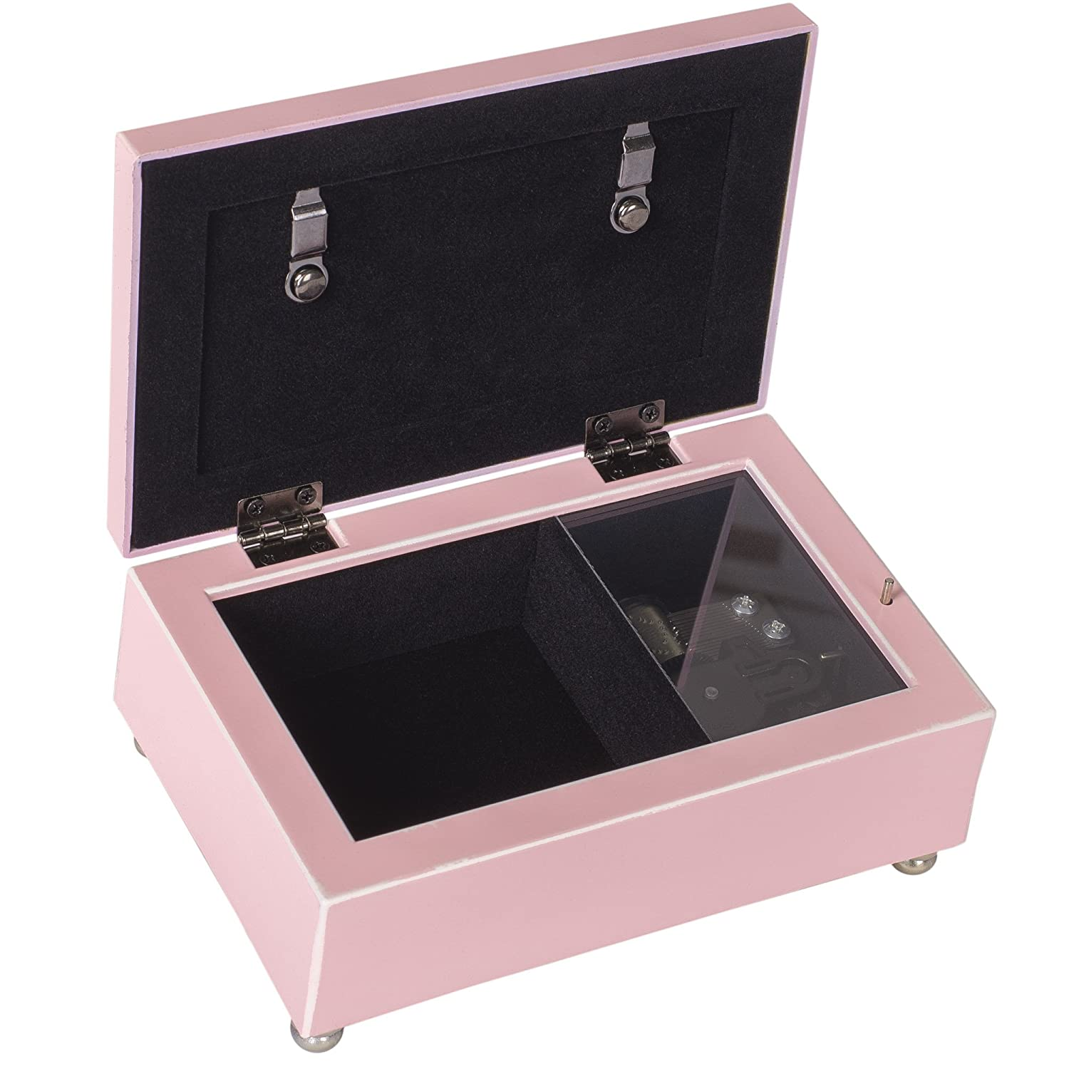Cottage Garden Baby Girl Fill World with Love Distressed Pink Petite Music Box Plays Jesus Loves Me