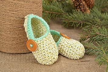 Madeheart Pantuflas de Lana de Niños Hechas a Mano Zapatos para casa de Color Tenero: Amazon.es: Hogar