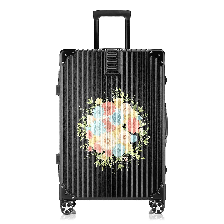 GSHCJ スーツケース 美しいコウシンバラの花束 キャリーケース 20インチ おしゃれ ブラック Tsaロック搭載 プリント ハード 超軽量 軽い 機内持込 ロックファスナー 旅行 ビジネス 出張 海外 修学旅行 丈夫 便利 レディース メンズ 学生 B07RY9CZN1