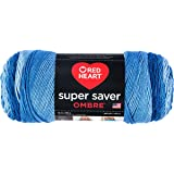 Coats & Clark Super Saver Ombre Yarn, 10 oz, True Blue