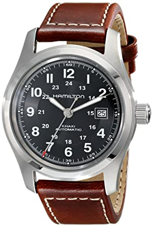 e3a25309ee16 Image Unavailable. Image not available for. Color  Hamilton Men s H70555533 Khaki  Field Stainless Steel Automatic Watch ...