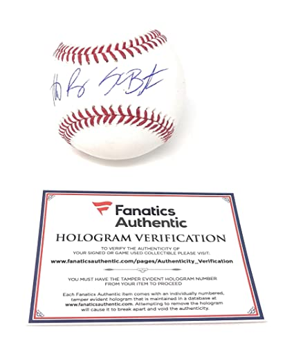 2428c42e Image Unavailable. Image not available for. Color: Kris Bryant Anthony  Rizzo Chicago Cubs Dual Signed Autograph Official MLB Baseball Fanatics  Authentic ...