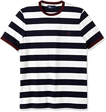 Amazon.com: Fred Perry Men's Striped Ringer T-Shirt, Carbon Blue, X-Small:  Clothing