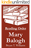 Mary Balogh - Reading Order Book - Complete Series Companion Checklist (English Edition)