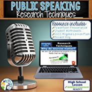 "Public Speaking, Speech and Debate Resource Lesson for ""Research Techniques"" - Activity with PowerPoint, Student Worksheets,"