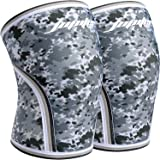 Knee Sleeves (1 pair), 7mm Thick Compression Knee Braces Offer Perfect Support for Squats Weightlifting,Powerlifting,Crossfit,Cross Training WOD for Men & Women (2X-Large, 1#Grey Camo)