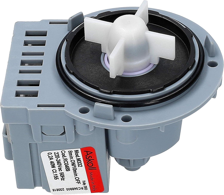 Wessper - Askoll Universal Bomba de drenaje para lavadora Samsung B1445V