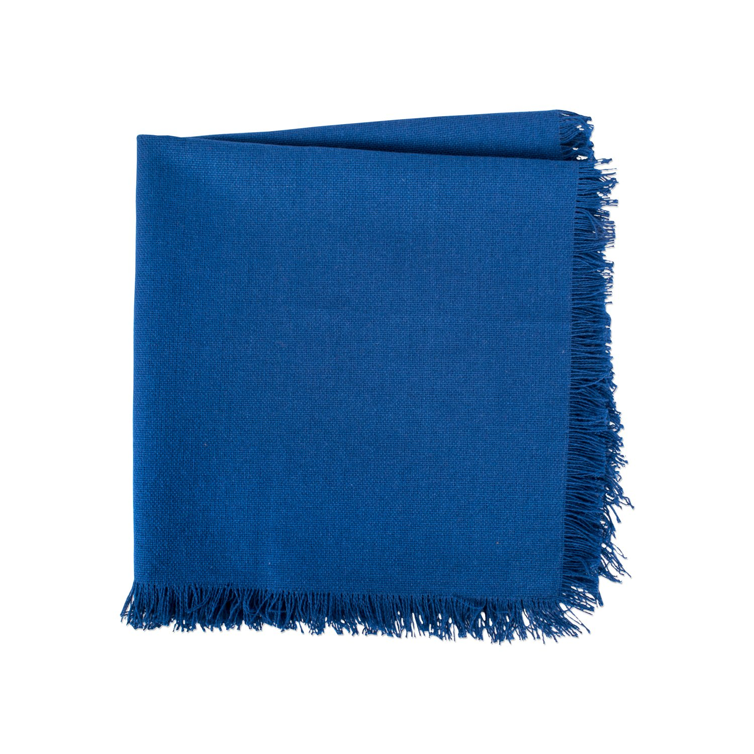 DII 100% Cotton, Oversized Basic Everyday Woven Heavyweight Napkin with Decorative Fringe for Place Settings, Family Dinners, BBQ, and Holidays (20x20'', Set of 6) Navy Blue Solid by DII (Image #5)