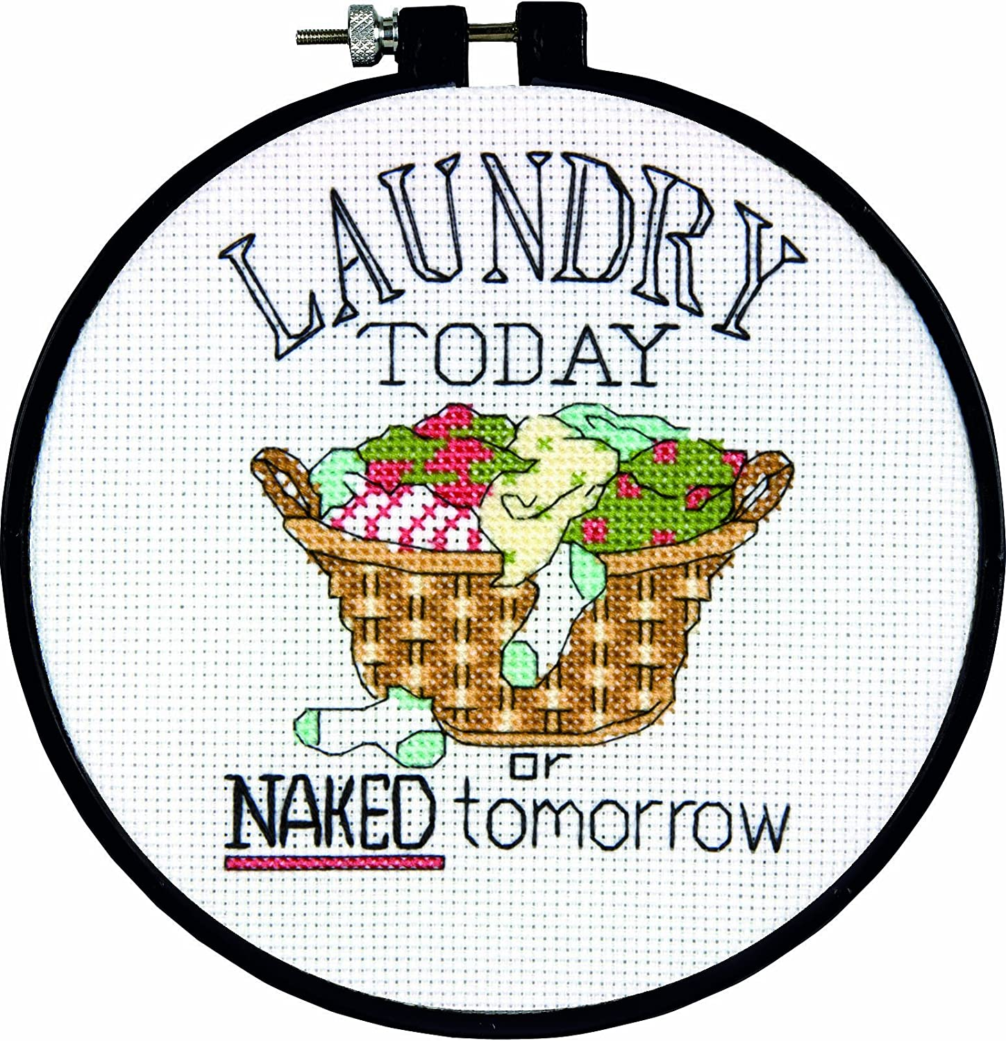 Dimensions Needlecrafts Counted Cross Stitch, Laundry Today Laundry Today DiMarzio 72-73764