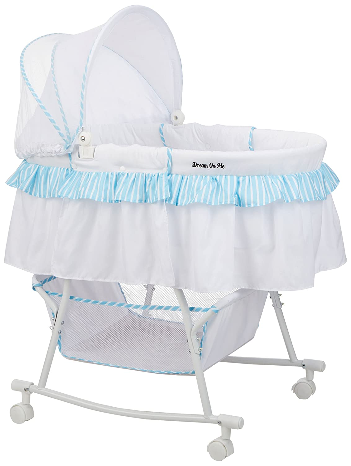 Dream on Me Lacy Portable 2-in-1 Bassinet 442-P