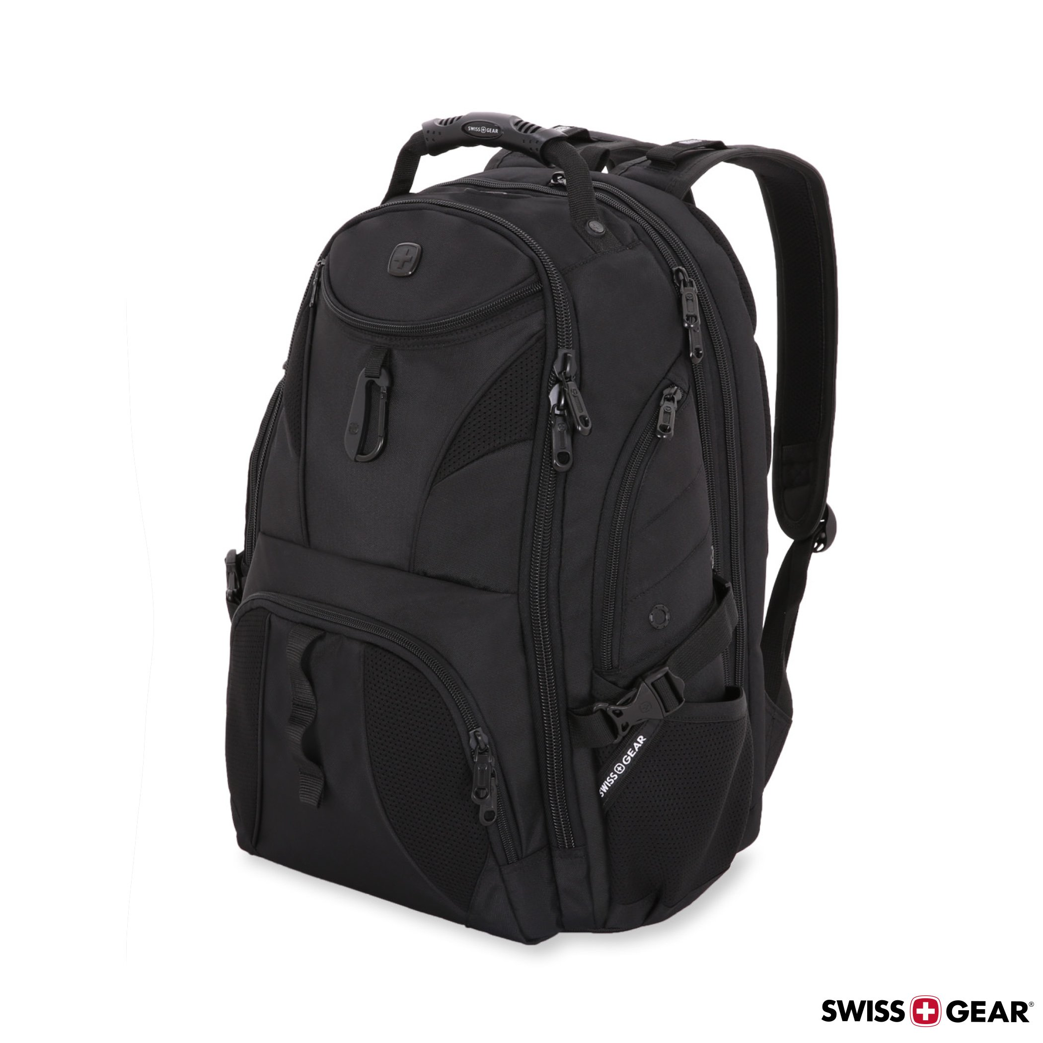 SWISSGEAR Travel Gear 1900 Scansmart TSA Laptop Backpack Black/Black