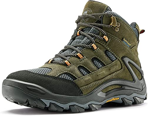 Mens Mid Hiking Boots Outdoor Water Resistant Non Slip Ankle Casual Boot