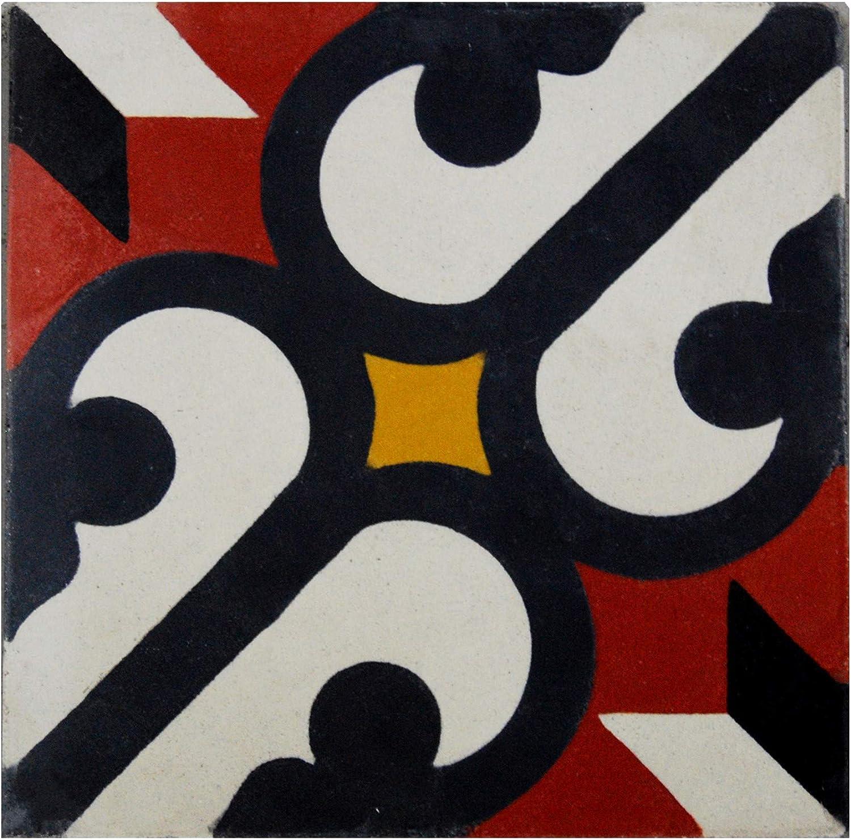 Cementine Marokkine Marokkanische Fliesen Etniche 20x20 Patchwork Mosaik 011