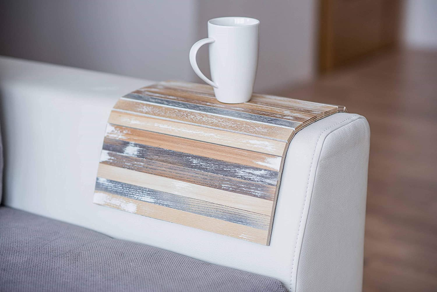 Wood Sofa arm Tray Protectors armrest Table Sofa Table Coaster Sofa Tray, tv Tray (Vintage)