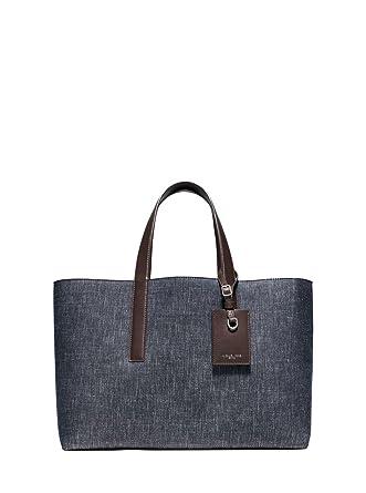 967a6ea7a758 MICHAEL KORS MEN S Reversible Mason Tote Bag Large Denim To Soft Suede