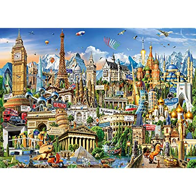niyokki Jigsaw Puzzles 1000 Pieces for Adults, 3D Game Puzzles Landscape Art Painting Puzzles, DIY Educational Toys Funny Gifts Home Decor (Metropolis): Toys & Games