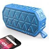 Waterproof Bluetooth Speakers, Wireless Portable Bluetooth Speaker IPX6 Shower Speakers with Enhanced Bass/ Built-in-Mic/ Climbing Hook Perfect for Home, Camping, Climbing, Bath and Outdoors ( Blue)
