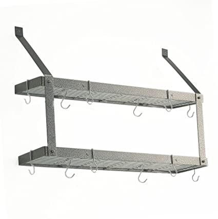 Double Bookshelf Pot Rack