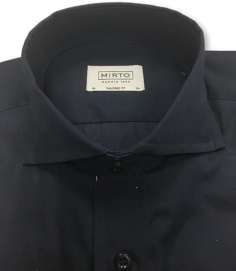 Mirto Tailored fit Shirt in Navy - 15.5: Amazon.es: Ropa y accesorios