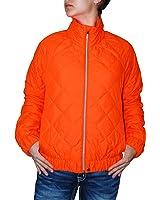 Polo Ralph Lauren Women's Zip Up Lightweight Quilted Jacket (Orange, M)