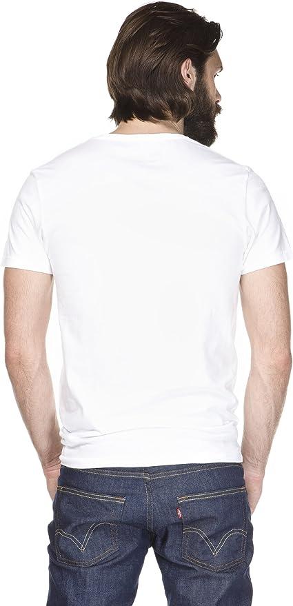 Levis 2 Pack V Neck - Camiseta Para Hombre: Amazon.es: Ropa y ...