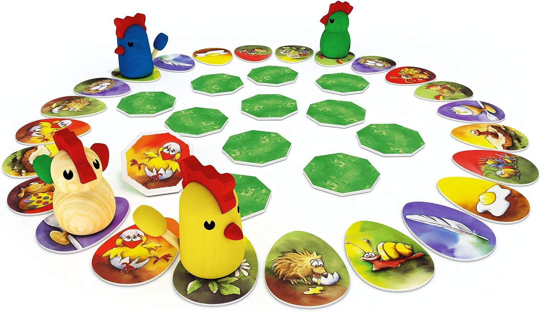 Zoch Zicke Zacke Hühnerkacke Niños Juego de Mesa de Aprendizaje - Juego de Tablero (Juego de Mesa de Aprendizaje, Niños, 20 min, Niño/niña, 4 año(s), 297 x 72 x 295 mm): Amazon.es: