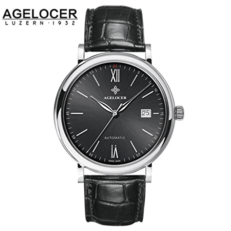 Agelocer Brand Swiss Watch Sapphire Automatic Diver Wristwatch Black White Grey Surface Watches relojes hombre Shipping