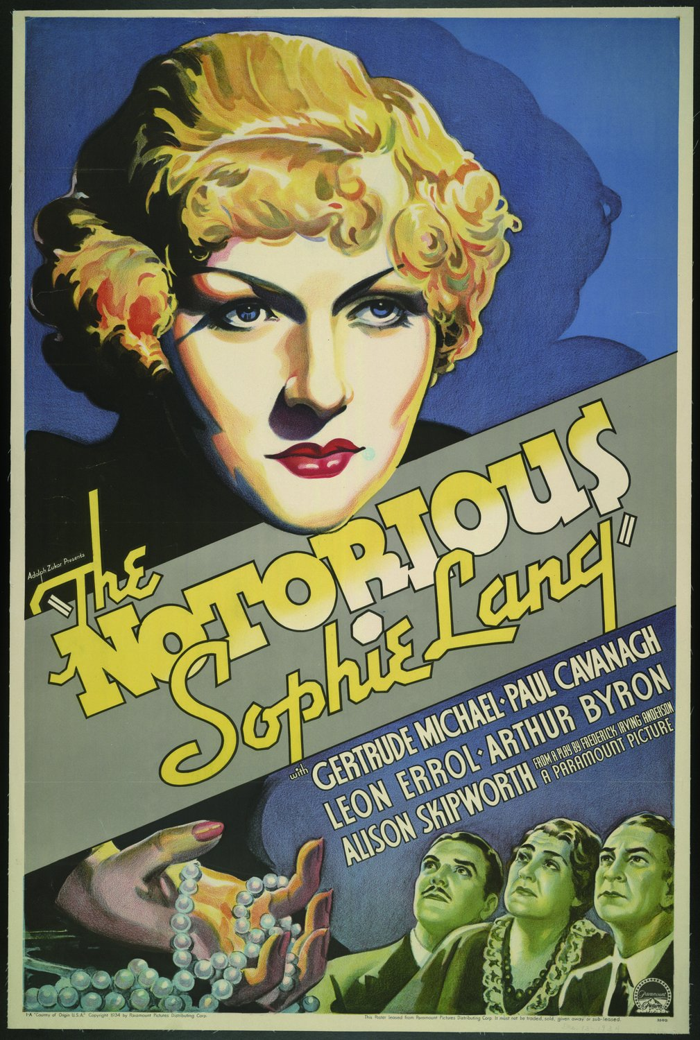 """Image result for the notorious sophie lang 1934"""""""